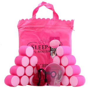 Sleep-In Rollers Original Pink Mega Bounce Rollers