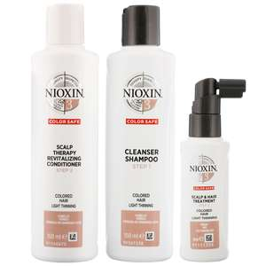 Nioxin System 3 3 Part System Kit for Normal to Thin Looking Fine Hair Chemically Treated