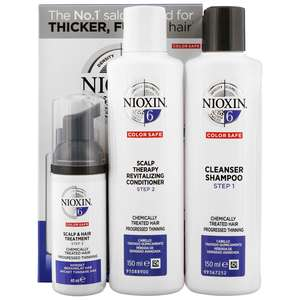 Nioxin System 6 3 Part System Kit for Noticeably Thinning Medium to Coarse Hair Chemically Treated