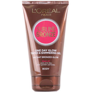 L'Oréal Paris Self Tan Sublime Bronze One Day Glow Tinted & Shimmering Body Gel 150ml
