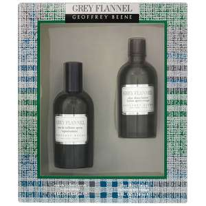 Geoffrey Beene Grey Flannel Eau de Toilette Spray 120ml & Aftershave Lotion 120ml