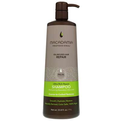 Macadamia Professional Care & Treatment Ultra Rich Moisture Shampoo for Very Coarse and Coiled Hair 1000ml