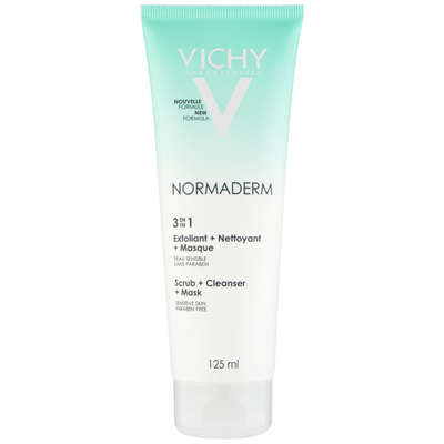 VICHY Laboratories Normaderm 3-In-1 Scrub, Cleanser & Mask 125ml