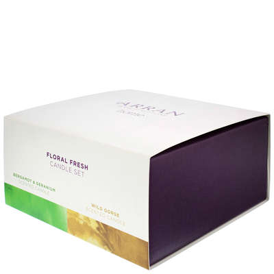 Arran Gifts Floral Fresh Scented Candle Set