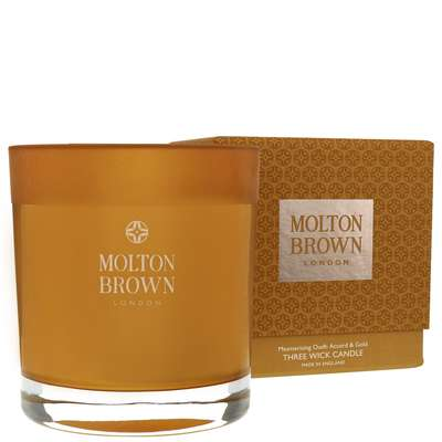 Molton Brown Mesmerising Oudh Accord & Gold Three Wick Candle 480g