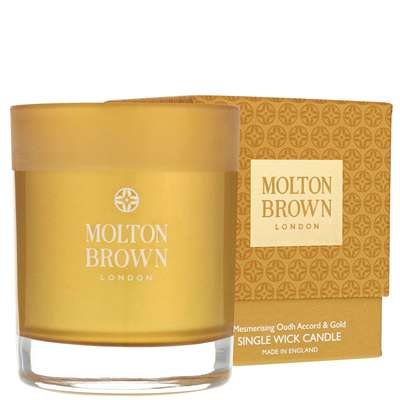 Molton Brown Mesmerising Oudh Accord & Gold Single Wick Candle 180g